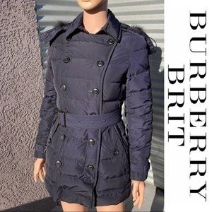 Burberry Brit Allerdale Double-Breasted Puffer
